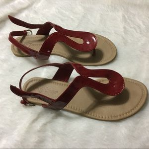 Shoes - Red thong sandals